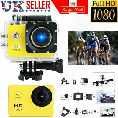 1080P Cam Sports DV Action Waterproof Bike Motor Cycle Action Helmet Camera UK