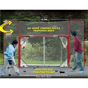 EZ Goal Hockey Goal with Backstop Rebounder and Targets!