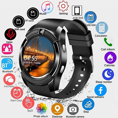 New Waterproof Bluetooth Smart Watch Phone Mate For iOS