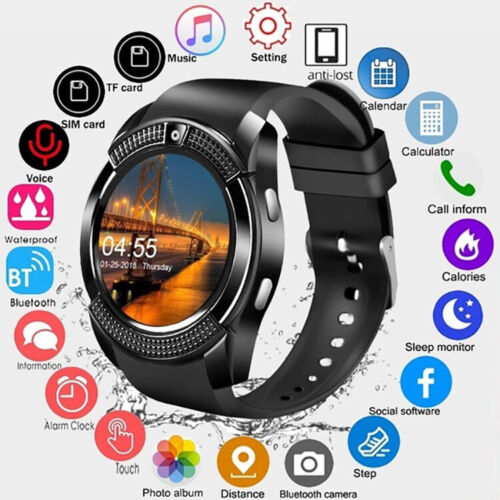 Waterproof Bluetooth Smart Watch Phone Mate Fitness Tracker For All Smart Phone