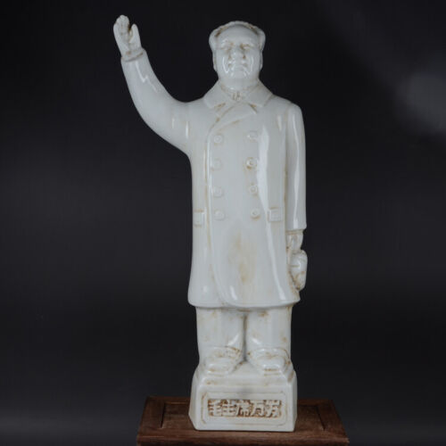 Estate Chinese Antqiue Cultural Revolution Porcelain Chairman Mao  Statue