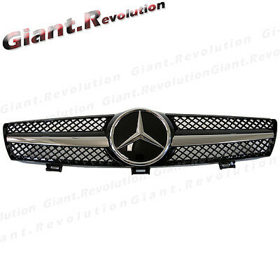 Shiny Black Center Cover Front Grille Fit W219 04-08 BENZ CLS350 CLS55 CLS63AMG for sale  Shipping to Canada