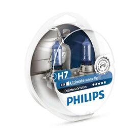 Phillips Diamond Vision H7 Headlight bulbs (Pair)