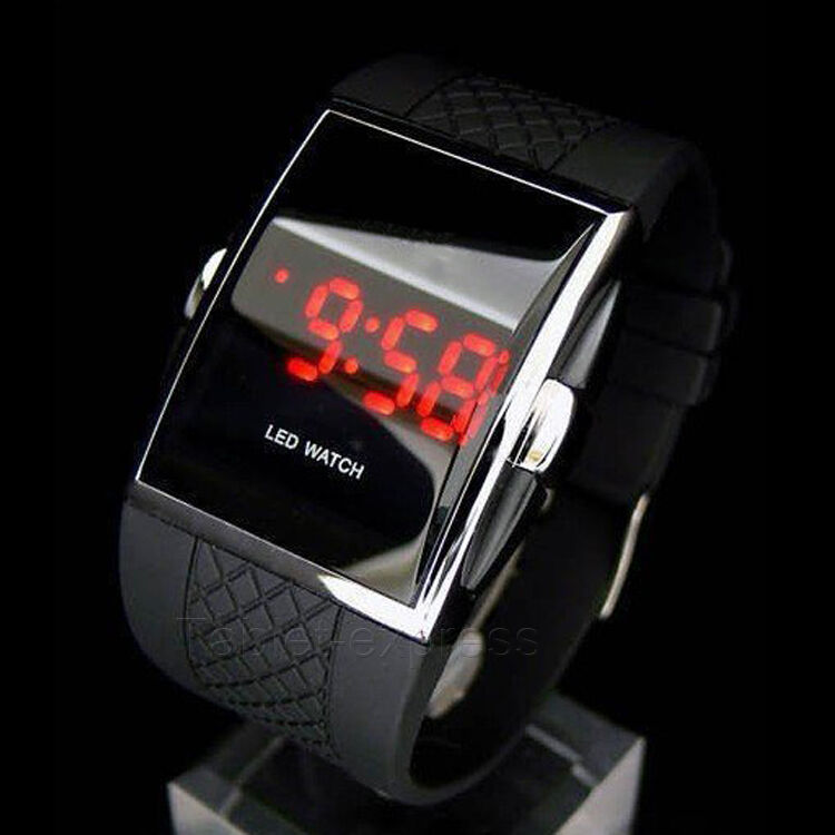 $5.79 - Luxury Men's Fashion LED Digital Date Sports Quartz Waterproof Wrist Watch Black