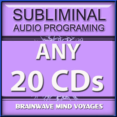 64c5659d5 ANY 20 CDs SUBLIMINAL HYPNOSIS DEAL Unleash & Harness the Power of Your  Mind NOW