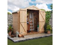 Garden Shed Billyho 4000 8ft x 3ft Windowless garden shed (Brand new partially painted)