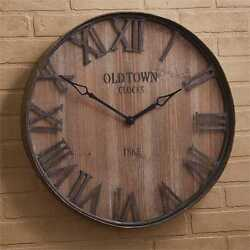 Old Town Galvanized/Wood Wall Clock By Park Designs