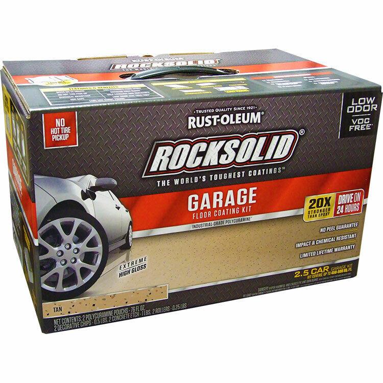 Rust-Oleum 293515 RockSolid  Garage Floor Coating Tan Kit 2.5 Car Garage Kit