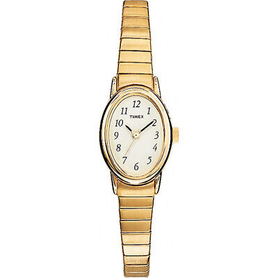 Timex Women's | Gold-Tone Expansion Band & Oval Case | Dress Watch T21872