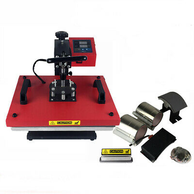 6 In 1 Multi-function Heat Press Machine Transfer Diy Printing T-shirt Mug New