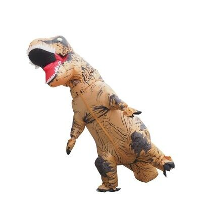 Kids Jurassic World Giant Walking T-Rex Inflatable Dinosaur Costume Holiday Suit