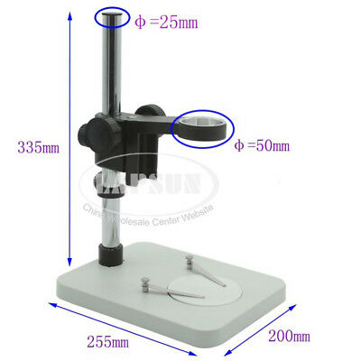 Metal Stand Table Industrial Microscope Holder Adjustable W 50mm Focus Bracket S