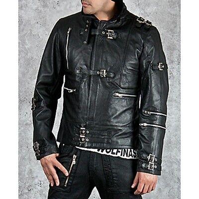 Michael Jackson Bad Black Leather Jacket](Michael Jackson Leather Jacket)