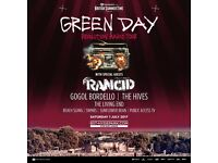 GREEN DAY - HYDE PARK - BRITISH SUMMERTIME - 1 JULY - 2 TICKETS - £110 TOTAL