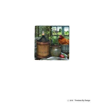 Apple Cider Days Stoneware Coasters, Set of 4, Billy Jacobs, Ceramic, Cork - Cork Coasters Bulk