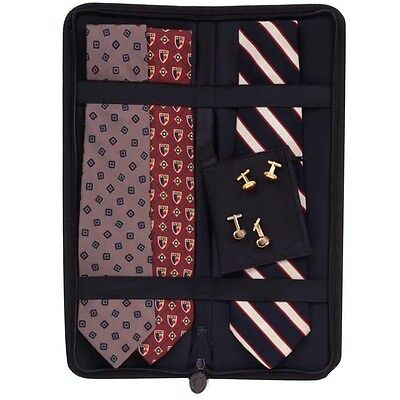 Household Essentials 06704 Travel Accessories Black Tie Case Holds Up To 6 Ties