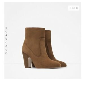 Brand New in Box - ZARA Genuine Leather Ankle Boots (Size 9)