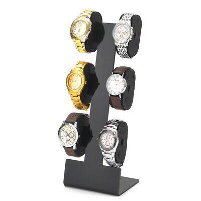 Acryl Uhrenhalter Uhrendisplay Uhrenständer Uhrenaufsteller für 6 Uhren Schwarz