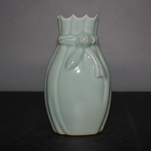 Old Chinese Qing Celadon Glaze Porcelain Baofu bottle Vase Mark
