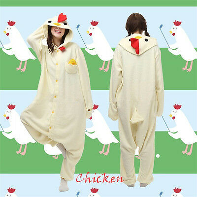 Hot Chicken Halloween Cosplay Costume Kigurumi Pajamas Party Jumpsuit Xmas Gifts