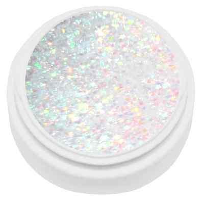5 ml extrem Diamant Glitter Gel weiß irisierend