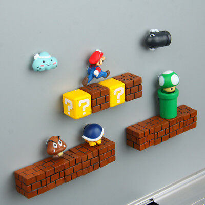 Hot Classic 3D Super mario Fridge Magnet Sticker Refrigerator Decoration 1 pcs