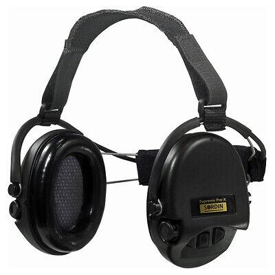 Sordin Supreme Pro X Kapsel-Gehörschutz Nackenband Schaumkissen Schwarze Cups