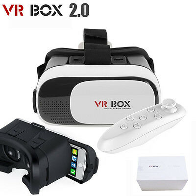 3D Virtual Reality VR Box 2.0 Google Glasses Cardboard Video Game Remote Phone