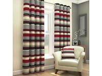 red,grey,black curtains