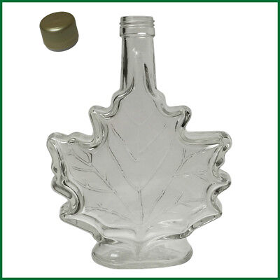 Leaf Maple Syrup (CASE OF 12,  Glass Empty Maple Leaf Syrup Bottles 250ml(ea) NEW w/tamper ev)