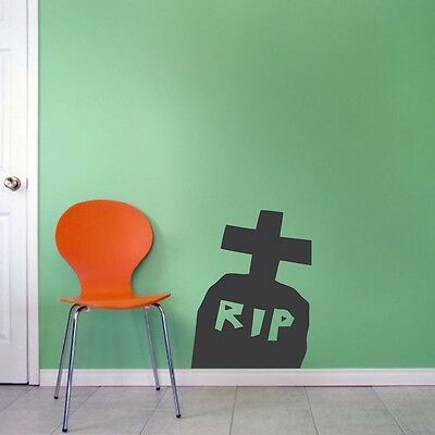 Grave Stone RIP Wall Decals Halloween Window Stickers Halloween Decorations, - Gravestone Halloween Decorations