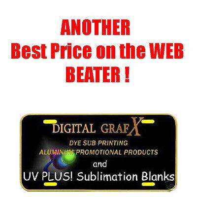 100ea Uv Plus 3 Coat Gloss White Aluminum Sublimation Auto License Plate Blanks