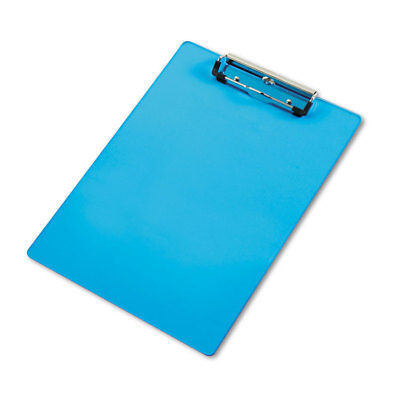 Saunders Acrylic Clipboard 12 Capacity Holds 8-12w X 12h Transparent Blue