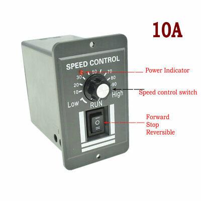 Dc 9-60v 10a Forward Reversible Motor Variable Speed Controller Switch Regulator