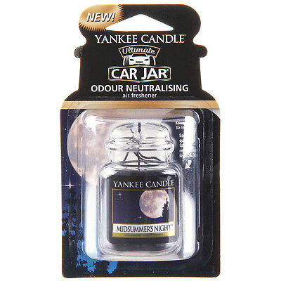 Yankee Candle Jar Car Home Hanging Air Freshener Freshner Scent MIDSUMMERS NIGHT