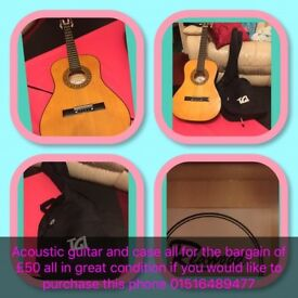 Acoustic Guitar and Carry Case