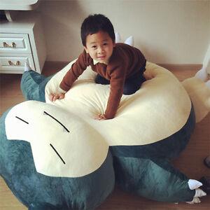 "59"" Pokemon giant Snorlax Plush Zipper Cover big huge Kabigon Kid Doll Xmas Gift"