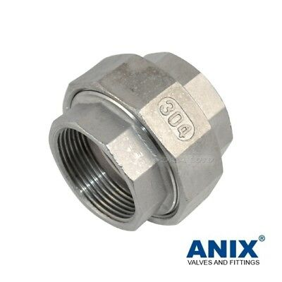 Union Coupling Female x Female NPT Pipe Fittings 1/4