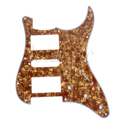 electric guitar pickguard cinnamon pearl 3 ply 11hole hsh. Black Bedroom Furniture Sets. Home Design Ideas