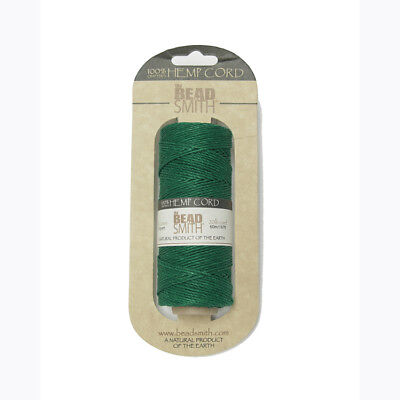 Green #20 Hemp 1mm Cord for beading jewelry necklace bracelet VBS camp crafts (Camp Crafts)