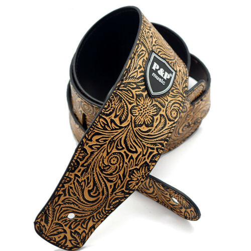 Embossed PU Leather Guitar Strap Belt Acoustic Electric Bass