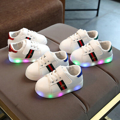 LE LED Sneakers Light Lace Up Kids Luminous Children Boys Girls Casual Shoes