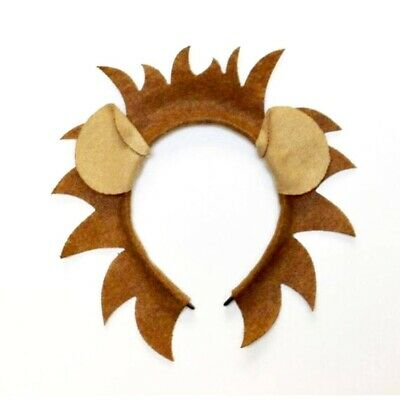 Lion mane and ears headband jungle safari zoo theme birthday party favor costume