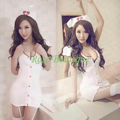 Nurses Costume For Halloween (Sexy Lingerie Nurse Cosplay Halloween Costume+ Garter Belt For Women)