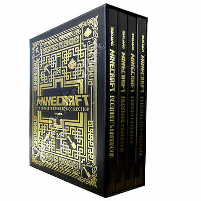 Minecraft: Complete 4 Hardcover Handbook Series Boxed Set Book Collection NEW!