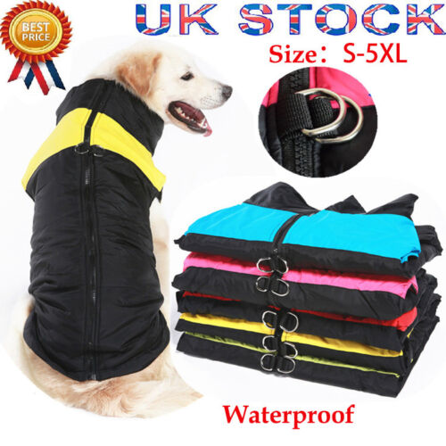 Waterproof Small/Large Pet Dog Clothes Winter Warm Padded Coat Vest Jacket S~5XL 1