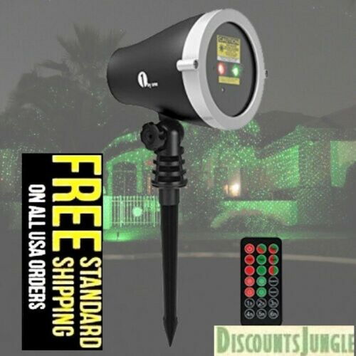 1byone Christmas Outdoor Laser Light Projector with Wireless Remote Controller