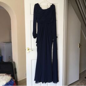 royal blue gown
