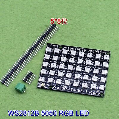 1pcs 8x5 40 Led Matrix 5050 Rgb Ws2812 Led Full-color Driver Board For Arduino K