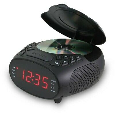 GPX Alarm Clock FM Radio with Built-in CD Player & Aux in